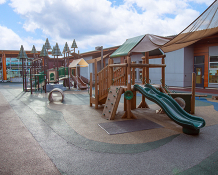Betty J. Taylor Early Learning Academy official site - child care playground image.