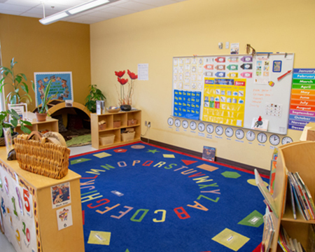 Betty J. Taylor Early Learning Academy official site - preschool room image.